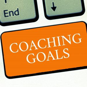 Image of a keyboard with coaching goals as a button